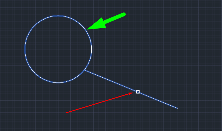 Extending Objects In Autocad Drawing(Illustrated Expression)