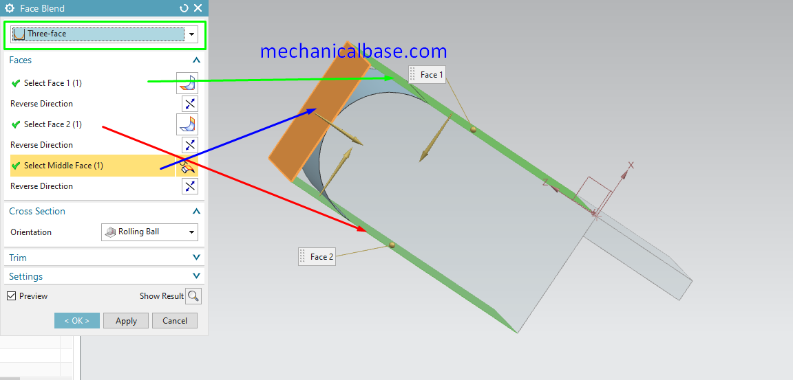 Face Blend Command In Siemens NX(Illustrated Expression)