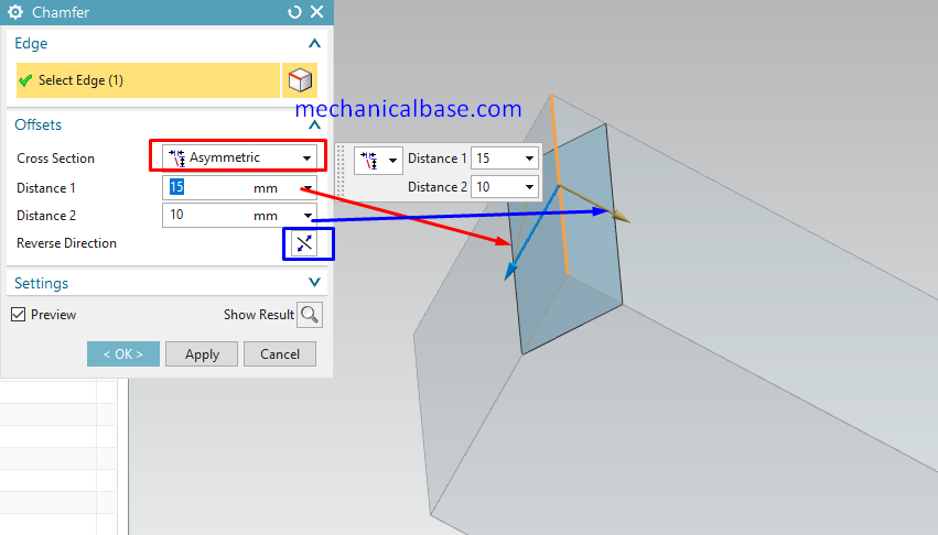 Chamfer Command In Siemens NX(Illustrated Expression)