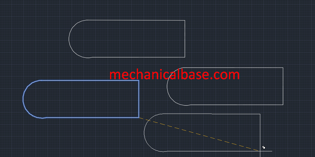 Copying Objects In AutoCAD(Illustrated Expression)