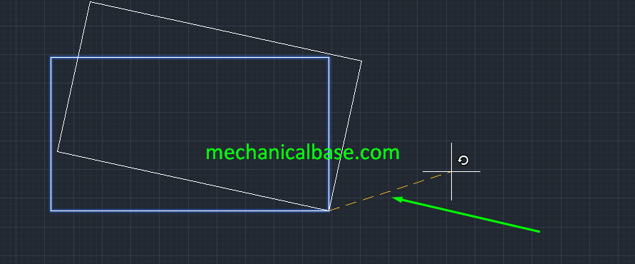 Rotating Objects In AutoCAD(Illustrated Expression)