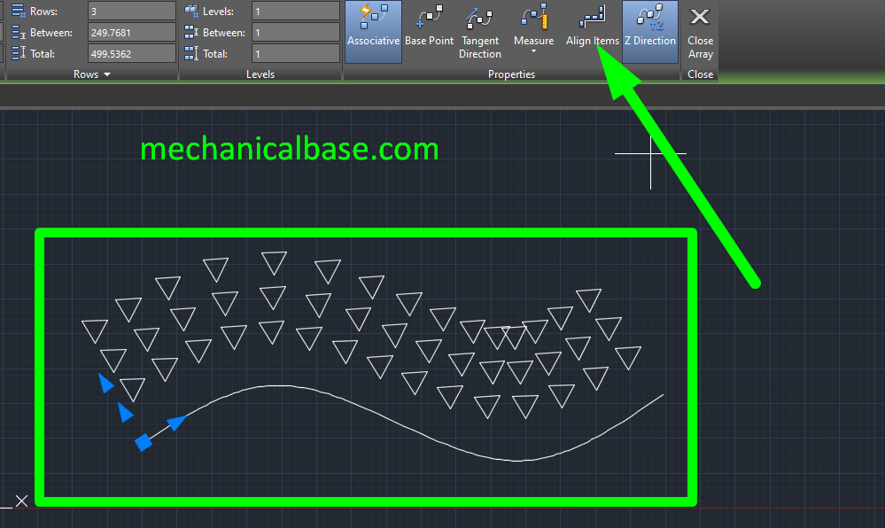 Path Array In AutoCAD Sketching(Illustrated Expression)