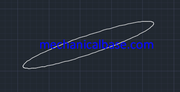 Axis, End Ellipse Drawing In AutoCAD(Illutsrated Expression)