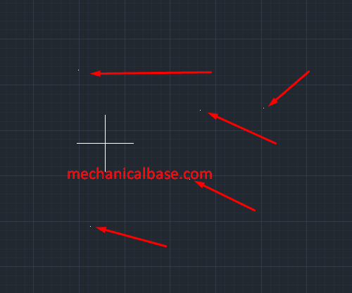 Drawing Multiple Points In AutoCAD(Illustrated Expression)
