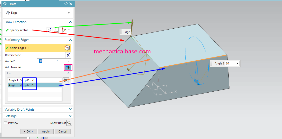 Edge Drafting Method In Siemens NX(Illustrated Expression)