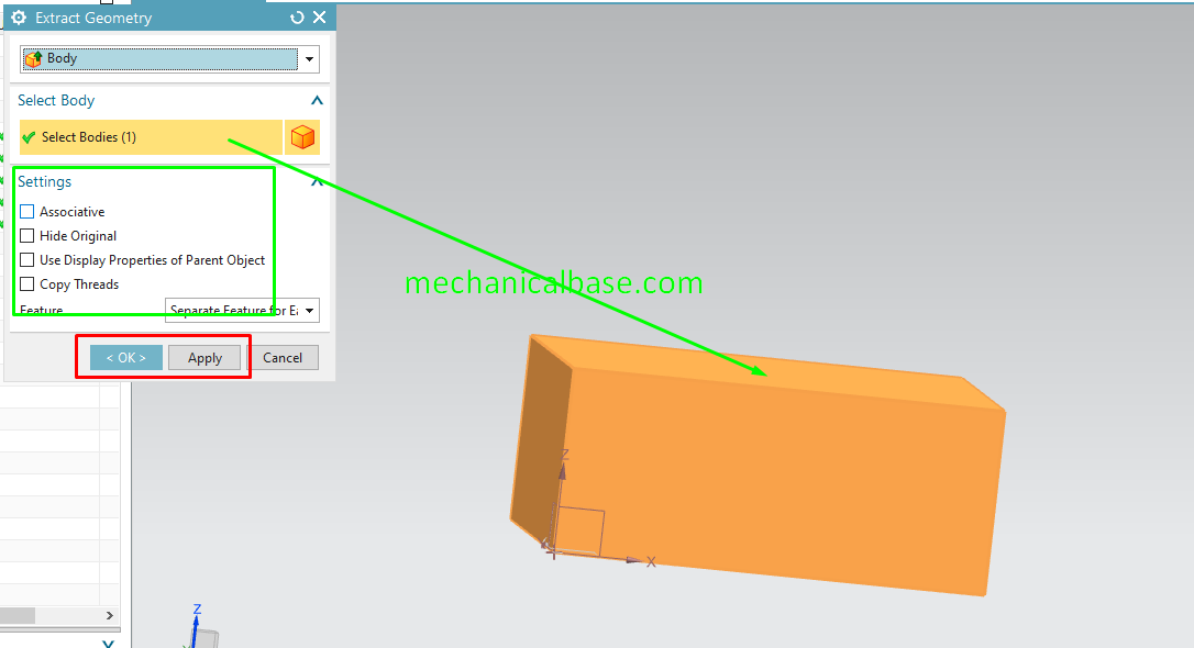 Extracting Bodies From Other Objects In Siemens NX(Illustrated Expression)