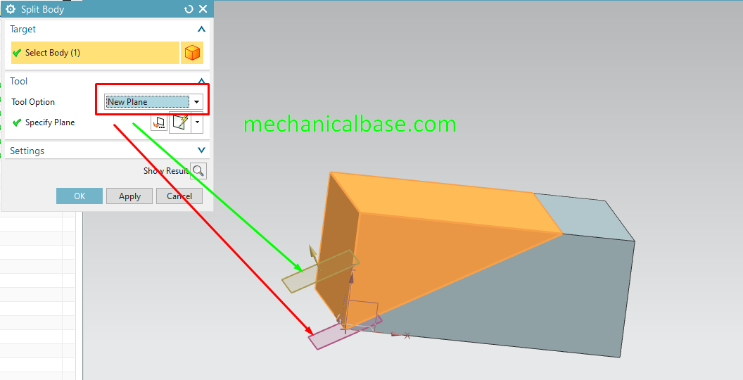Splitting Bodies With Faces Or Planes In Siemens NX(Illustrated Expression)
