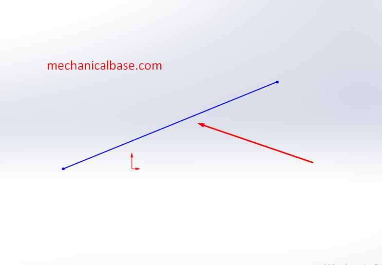 Giving Horizontal Orientation To A Sketch In Solidworks(Illustrated Expression)