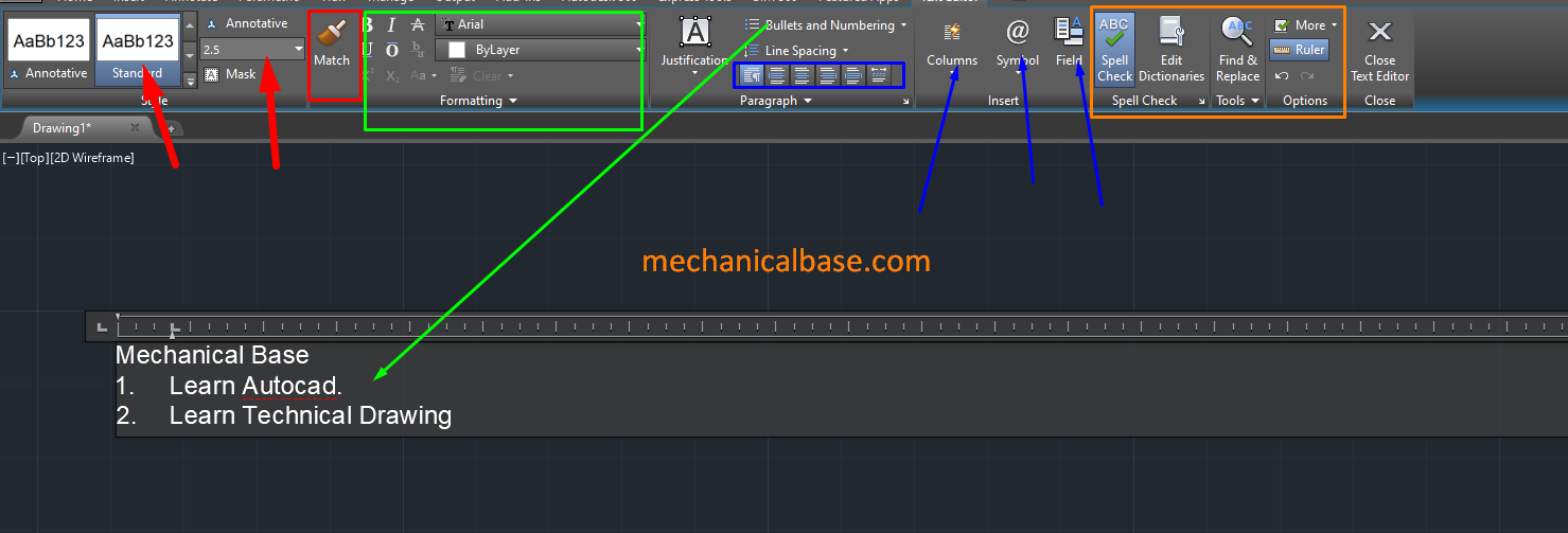 Creating Singleline And Multiline Text In AutoCAD(Illustrated Expression)
