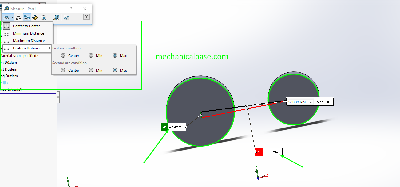 Measuring Distances Between Points In Solidworks