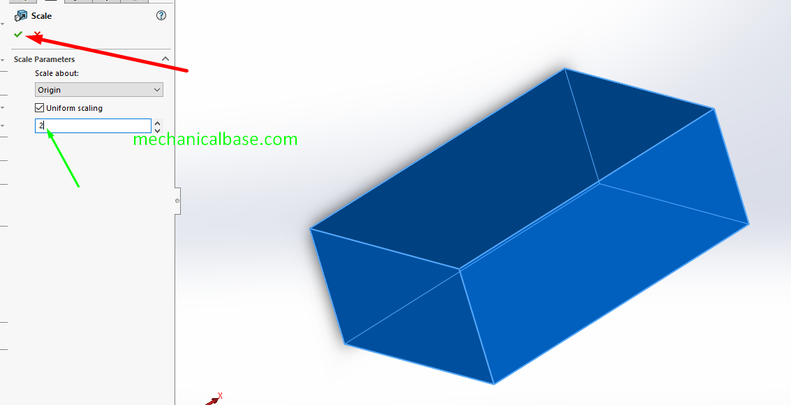 Scaling Parts And Bodies In Solidworks