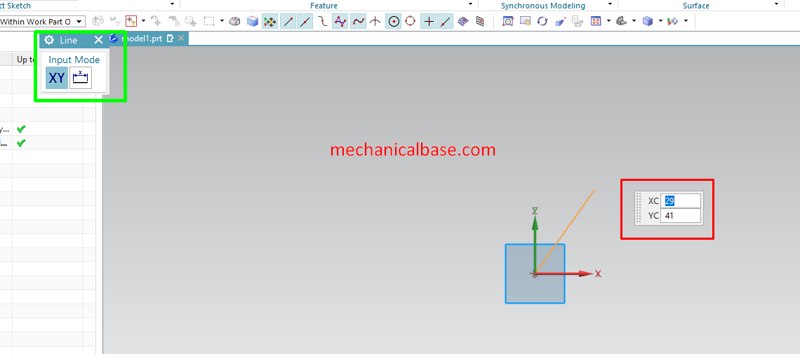 Drawing Line And All The Features Of Line Command In Siemens NX Sketching