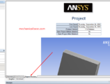 Taking Automatic ANSYS Solution Report