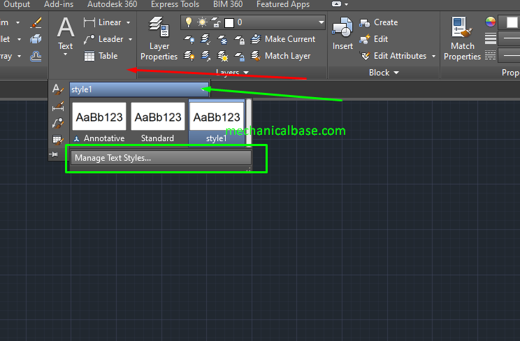 Adjusting Text Heights, Fonts And Other Options In AutoCAD