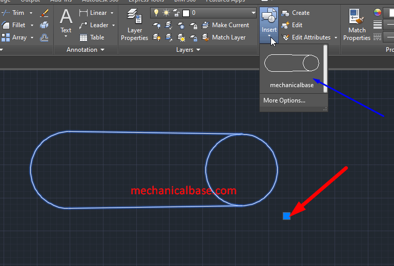 Creating Blocks From 2D Objects In AutoCAD