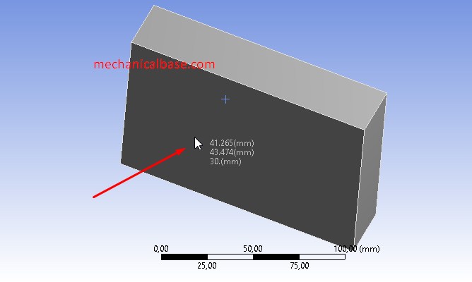 Displaying Coordinates Of A Point In ANSYS® Mechanical