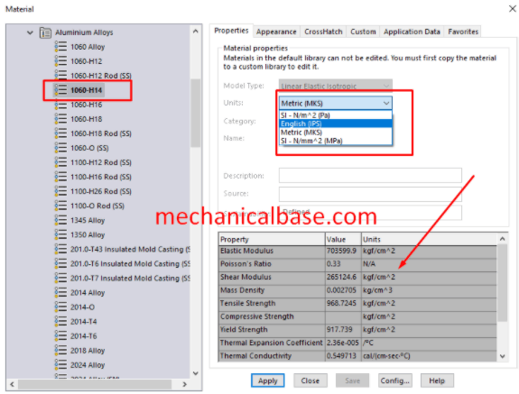 Assigning Material To Parts And Bodies In Solidworks